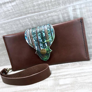 Hollyhawk Leather Long Wallet - Forest
