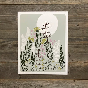 Bough and Antler Beaver Lodge Print
