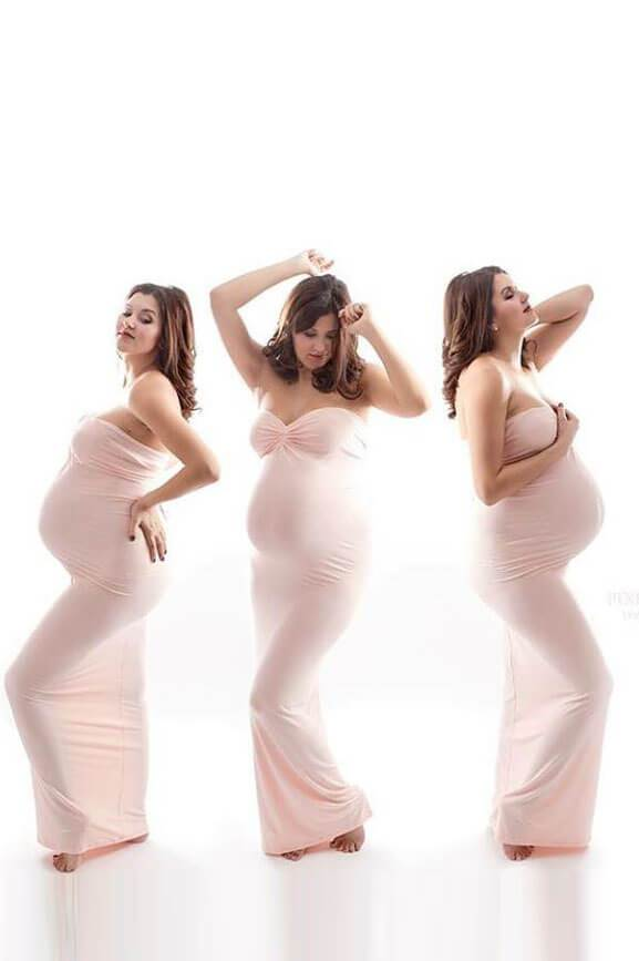 Calla Maternity Dress Blush - Mii-Estilo.com