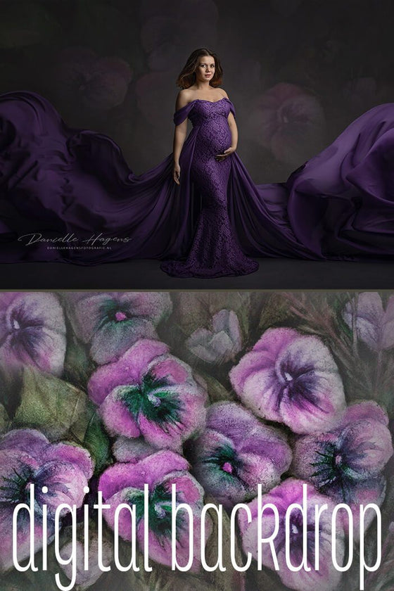 Digital Backdrop Fantasy Violet by Danielle Hagens - Mii-Estilo.com