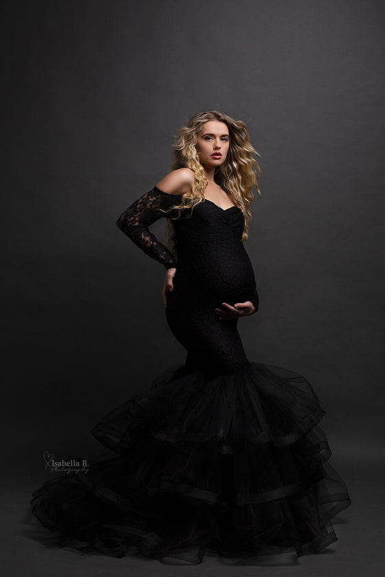 Kalina Maternity Dress Black - Mii-Estilo.com