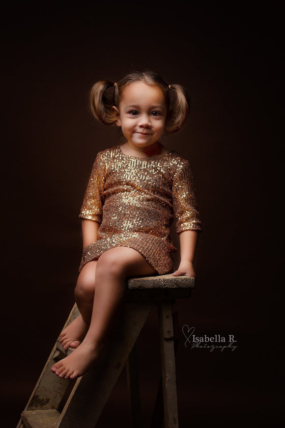 Sparkle Star Dress Little Gold - Mii-Estilo.com
