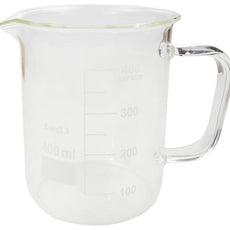 BEAKER w/ GLASS HANDLE 400ML