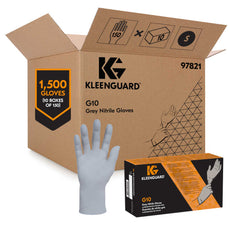 Kimberly Clark Gloves GRAY NITRILE #97822 KLEENGUARD G10 - Medium (CS10 boxes of 150pk)