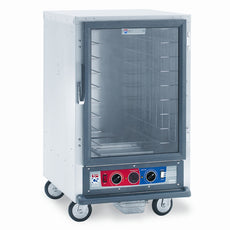 C5 1 Series Holding Cabinet, 1/2 Height, Combination Module, Full Length Clear Door, Fixed Wire Slides