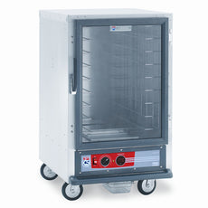 C5 1 Series Holding Cabinet, 1/2 Height, Heated Holding Module, Full Length Clear Door, Fixed Wire Slides