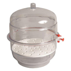 "Desiccators, Vacuum, Clear Base, 6"" - 55214"