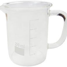 BEAKER w/ GLASS HANDLE 250ML