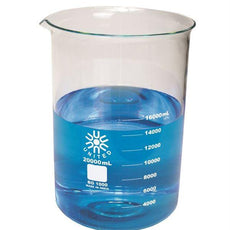 Beaker, Low Form, Borosilicate Glass, 20000ml - BG1000-20000