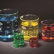 Glass Beaker Set Of 5, Borosilicate - BGSET5