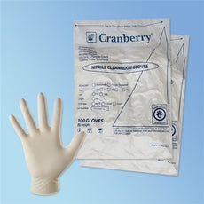 "Cleanroom Glove Nitrile Class 100 - X-Large -12"" 5.5m - Bag of 100"