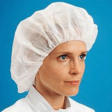 "Bouffant Cap SBPP 21"" Pleated w/Latex Free Band White Case of 1000"