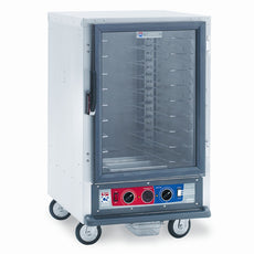 C5 1 Series Holding Cabinet, 1/2 Height, Combination Module, Full Length Clear Door, Universal Wire Slides