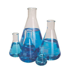 Glass Erlenmeyer Flasks, Set Of 5 - FGSET5