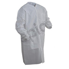 Tians Lab Coat, SMS, KW, KC, 3pkt, White, 4xl, 30/Cs - 864895-4XL