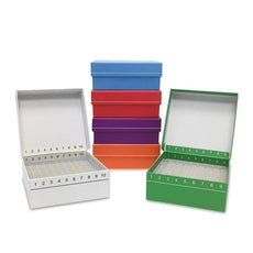 FlipTop Carboard freezer box w/ attached hinged lid- 81-place- assorted colors- 5/pk-R2781-A