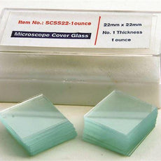 Glass Coverslips, 22mm X 22mm, 1oz., #1 - SCSS22-1oz