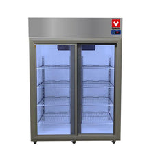 Yamato SLR1301DGSL Laboratory Refrigerator 2°C To 8°C, 49 Cu.Ft., Two Sliding Glass Doors, Cycle Defrost, 115v
