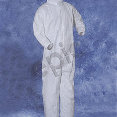 Tians Coveralls, White MP Coated, Collar, EW, EA, EB, XLG, 25/Cs - 216853-XL
