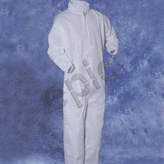 Tians Coveralls, White SMS, Collar, EW, EA, EB, MED, 25/Cs - 216893-M