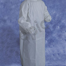 Tians Isolation Gown, MP Coated W/Thumb Strap, EW, White, MED, 30/Cs - 816851TS-M