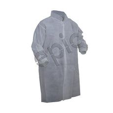 Tians Lab Coat, Premium Polypro, Kw, No Pkt, White, LRG, 50/Cs - 845885-L