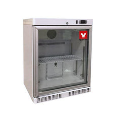 Yamato UCR001G Undercounter & Countertop Refrigerator 1°C To 7°C, 2.5 Cu.Ft. With Glass Door, Cycle Defrost, 115v