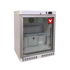 Yamato UCR101G Undercounter & Countertop Refrigerator 1°C To 7°C, 4.6 Cu.Ft. With Glass Door, Cycle Defrost, 115v