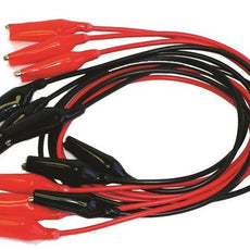 "Alligator Clip Lead, 12"", Red, Each - WAG012-R"
