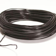 Plastic Ins Copper Wire, Blk, 100' Roll - WCP22-BK