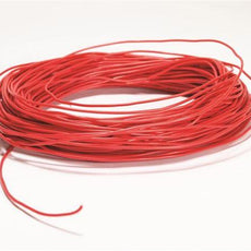 Plastic Ins Copper Wire, Red, 100' Roll - WCP22-R