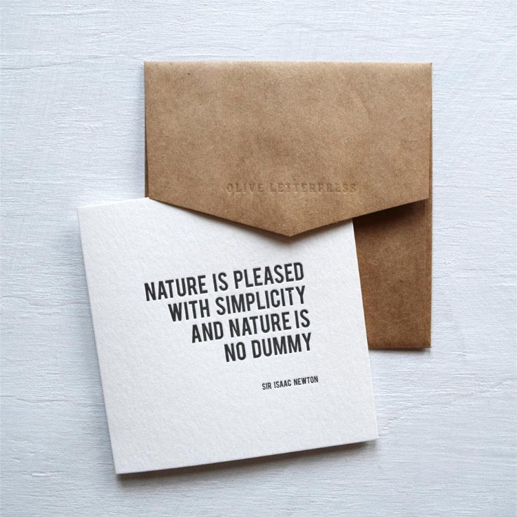 Sir Isaac Newton Letterpress Greeting Card