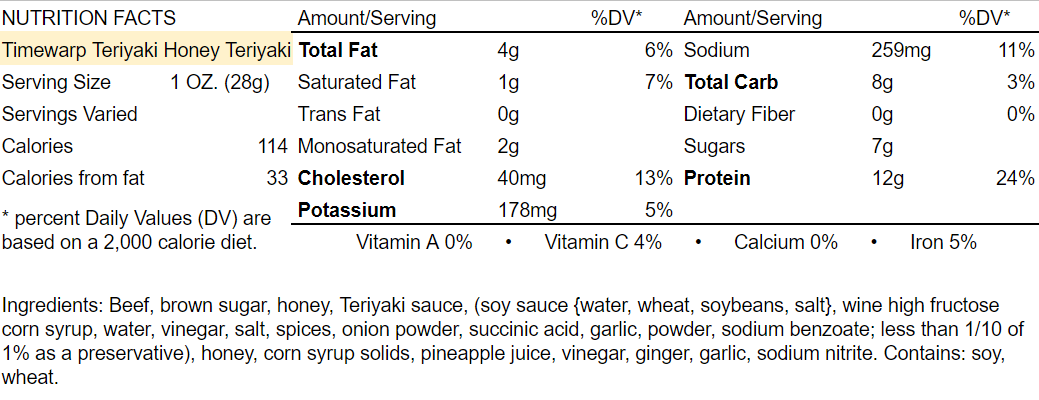 Nutrition-Facts-Timewarp-Teriyaki-Honey-Teriyaki