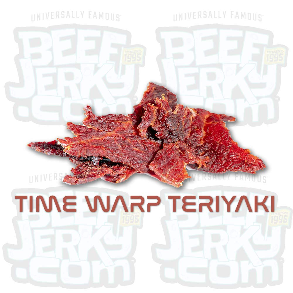 Time Warp Teriyaki, Sweet Teriyaki, Gourmet Beef Jerky [ 8oz Bag ]