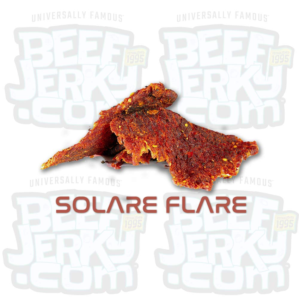 Solar Flare Beef Jerky, Extreme Heat Red Pepper, Gourmet Beef Jerky [ 8oz Bag ]