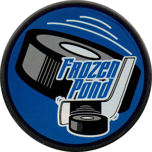 Frozen Pond Logo Puck