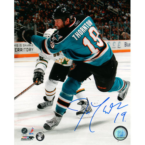 Joe Thornton Autographed San Jose Sharks 16X20 Photo