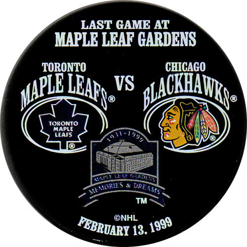 Last Game at Maple Leaf Gardens Commemorative Puck