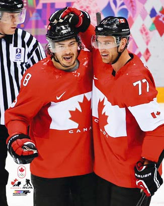 2014 Team Canada - Drew Doughty/Jeff Carter Unsigned 8X10 Photo