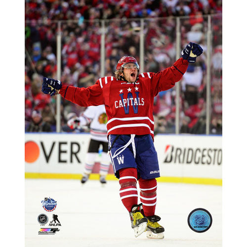 2015 Winter Classic Unsigned 8X10 Photo - Alex Ovechkin