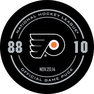 Eric Lindros & John LeClair Night Official Game Puck