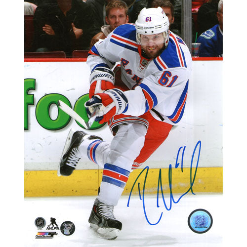 Rick Nash Autographed New York Rangers 16X20 Photo (Shooting)