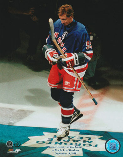 Wayne Gretzky Unsigned 8X10 Photo (Last Game MLG)