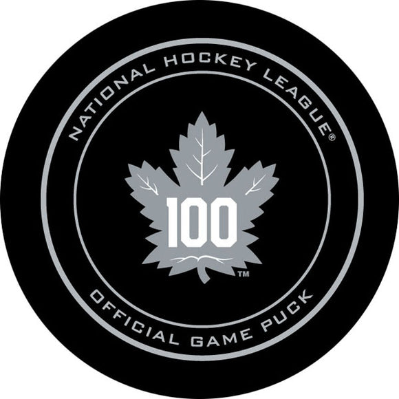 Toronto Maple Leafs Centennial Official Game Puck