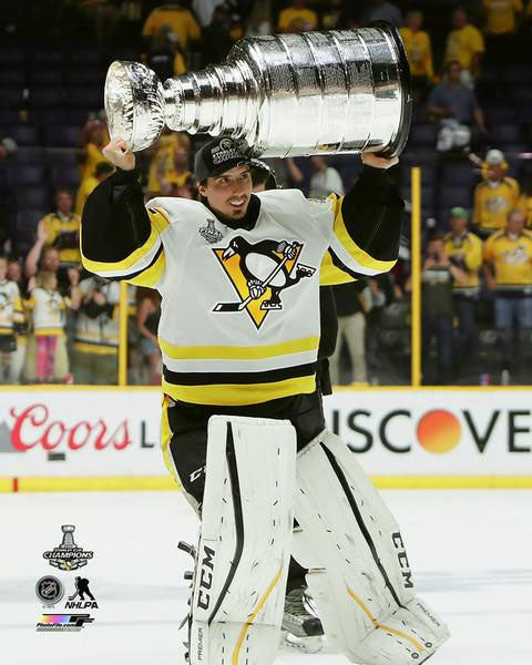 2017 Stanley Cup - Marc-Andre Fleury w/Cup Unsigned 8X10 Photo