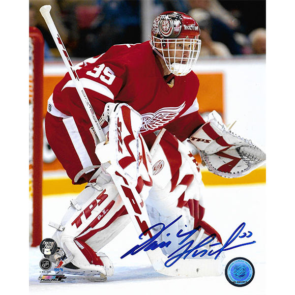 Dominik Hasek Autographed Detroit Red Wings 16X20 Photo