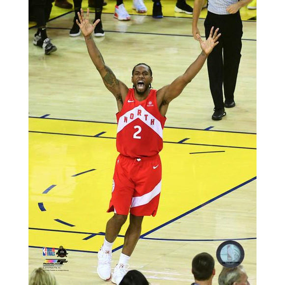 2019 Toronto Raptors Kawhi Leonard Unsigned 8X10 Photo