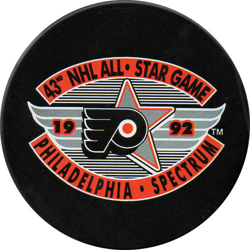1992 All-Star Game Puck - Philadelphia