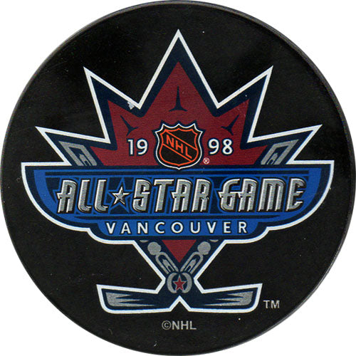 1998 All-Star Game Puck - Vancouver
