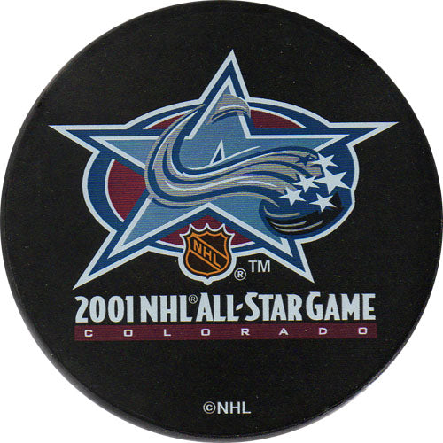 2001 All-Star Game Puck - Colorado